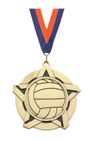 Super Star Volleyball Medal