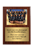 Volleyball Team Photo Plaque