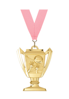 Volleyball Trophy Medal